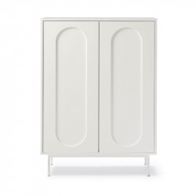 Meuble d'entrée 2 portes 2 tiroirs Blanc - RICO