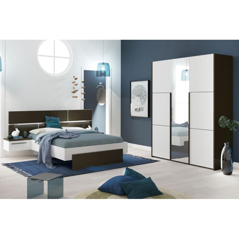 Chambre Adulte Complète Gris/Blanc (140*190) - FLORINE n°2