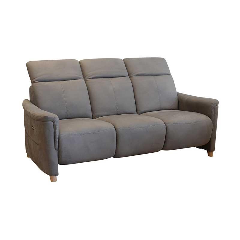Canapé Relax électrique 3 places Gris Taupe ALBERTINE - Univers Salon et Assises : Tousmesmeubles