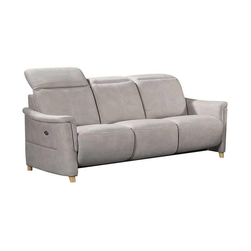 Canapé Relax électrique 3 places Mastic ALBERTINE - Univers Salon et Assises : Tousmesmeubles