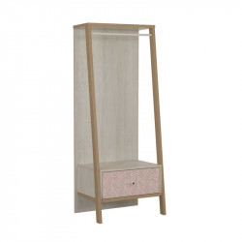 Portant 1 tiroir Bois blanchi junior fille scandinave SOLVEIG - Univers Chambre : Tousmesmeubles