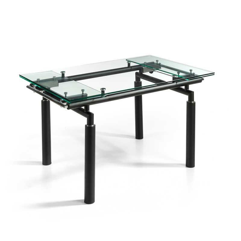 Table de repas extensible Verre/Noir mat - POKENO