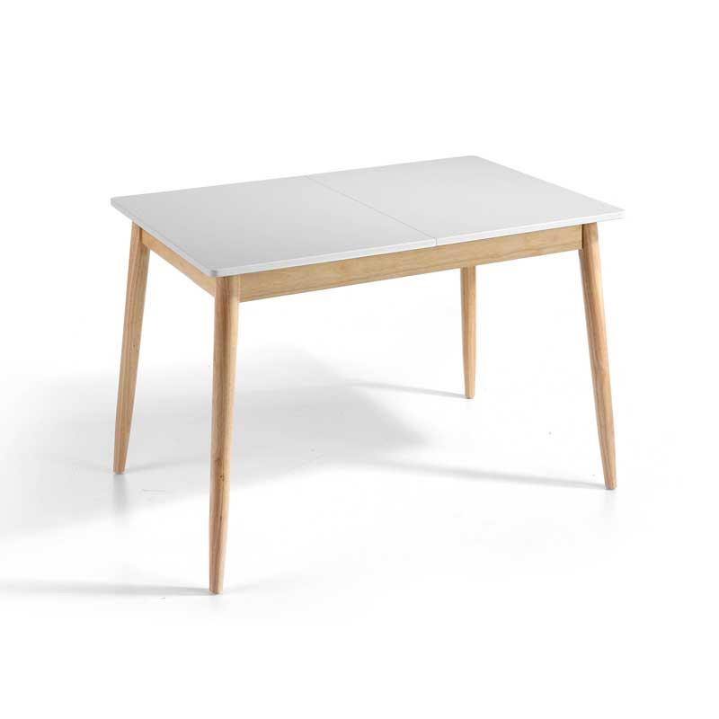 Table de repas à allonge Blanc/Chêne - KAIKOURA n°1