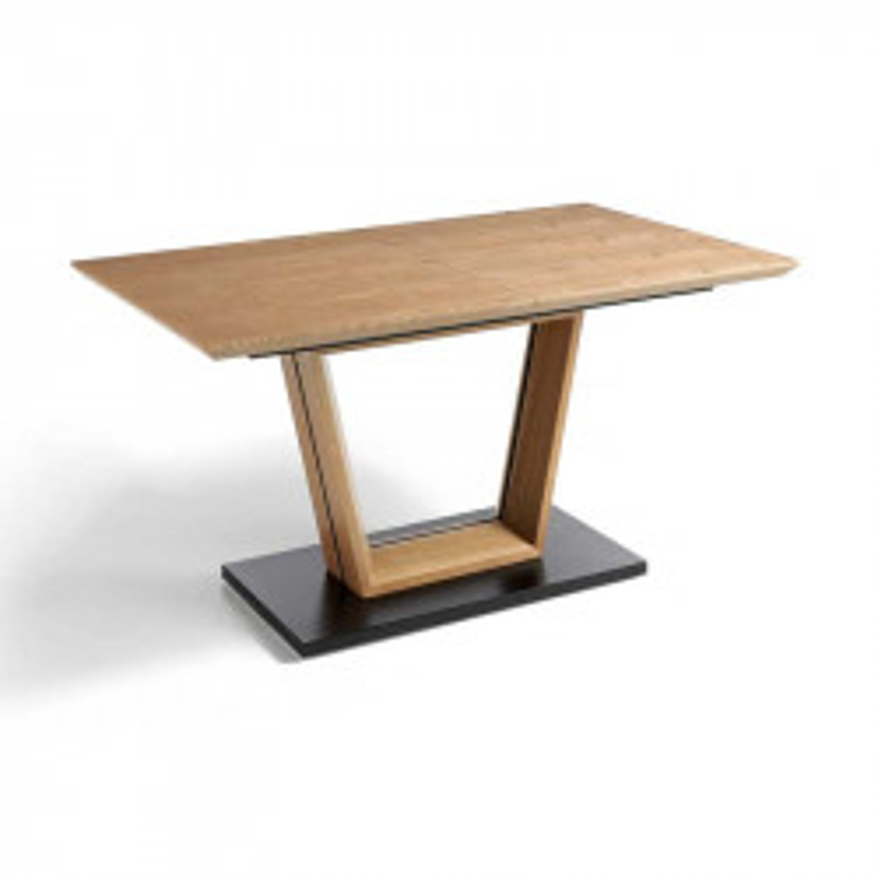Table de repas à allonge Chêne/Noir - HASTINGS