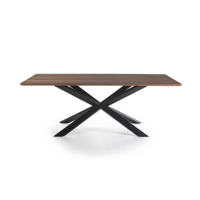 Table de repas rectangulaire Noyer/Noir - RUSSELL