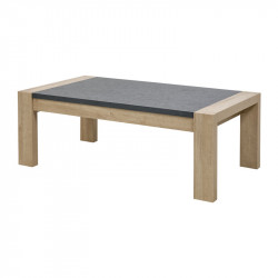 Table basse rectangulaire Chêne blond/Gris - SIEM