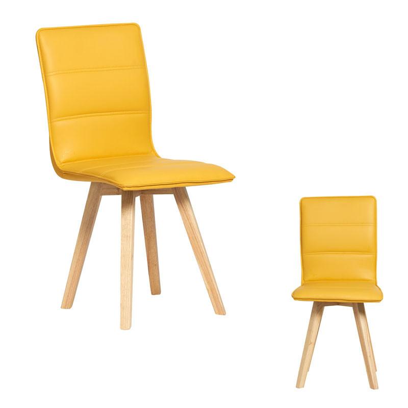 Duo de chaises simili cuir Jaune - KANO