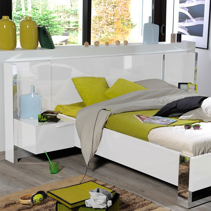 Chambre adulte compl te 140 190 sunny n 3 univers de for Chambre complete adulte