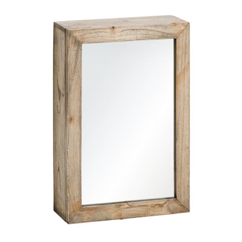 Armoire miroir en bois naturel Taille S - MIKTO