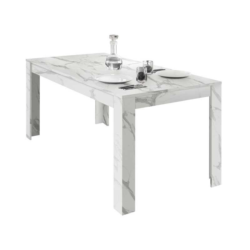 Table de repas rectangulaire Marbre blanc - BURANO