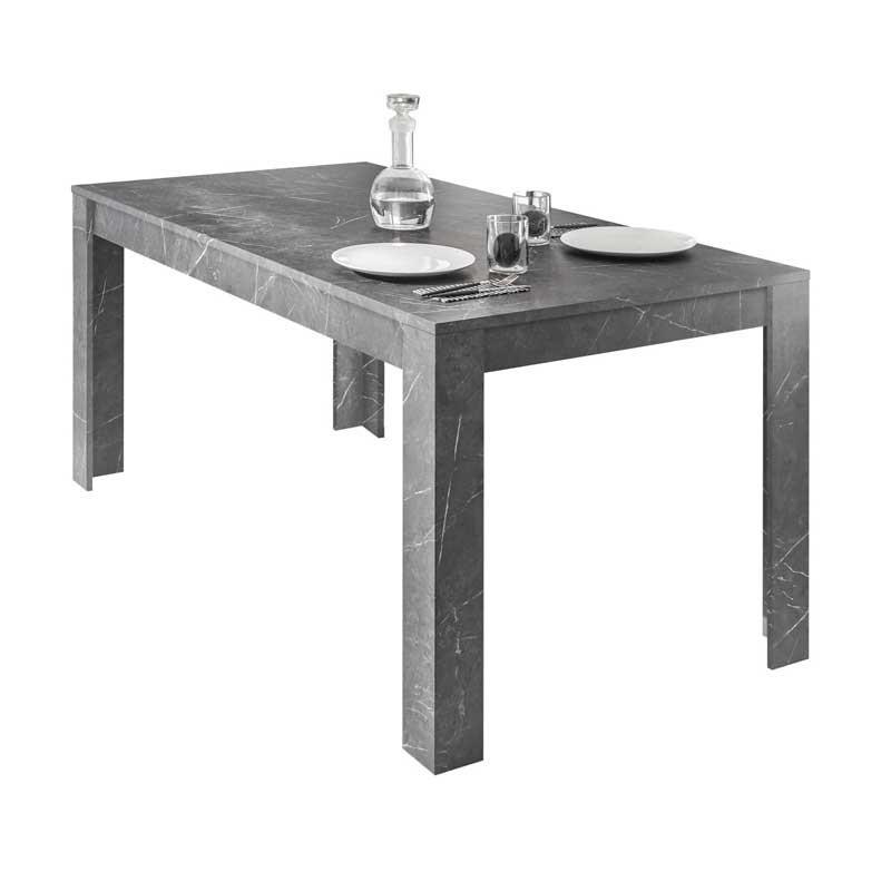 Table de repas rectangulaire Marbre noir - BURANO