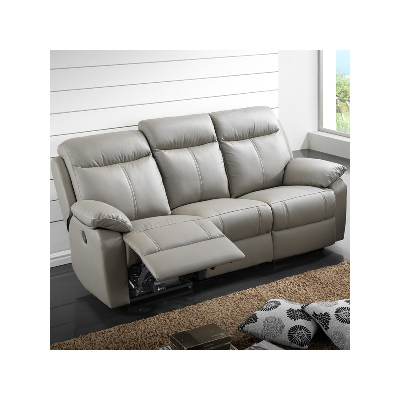 Canape relax electrique 3 places clo homes - Canape cuir relax but ...