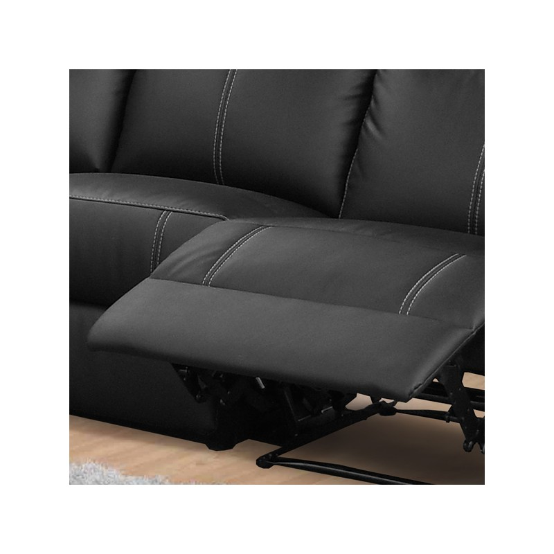 Canap d 39 angle relax 7 places cuir vyctoire univers des - Canape angle relaxation ...