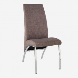 Chaise Tissu gris/Chrome - JULIACA