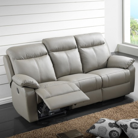 Canap relax lectrique 3 places cuir vyctoire univers - Canape cuir electrique 3 places ...