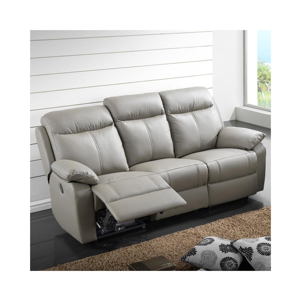 canap relax lectrique 3 places cuir vyctoire univers des assises tousmesmeubles. Black Bedroom Furniture Sets. Home Design Ideas