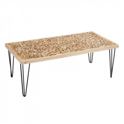 Table basse rectangulaire en Bois/Noir - WOOD