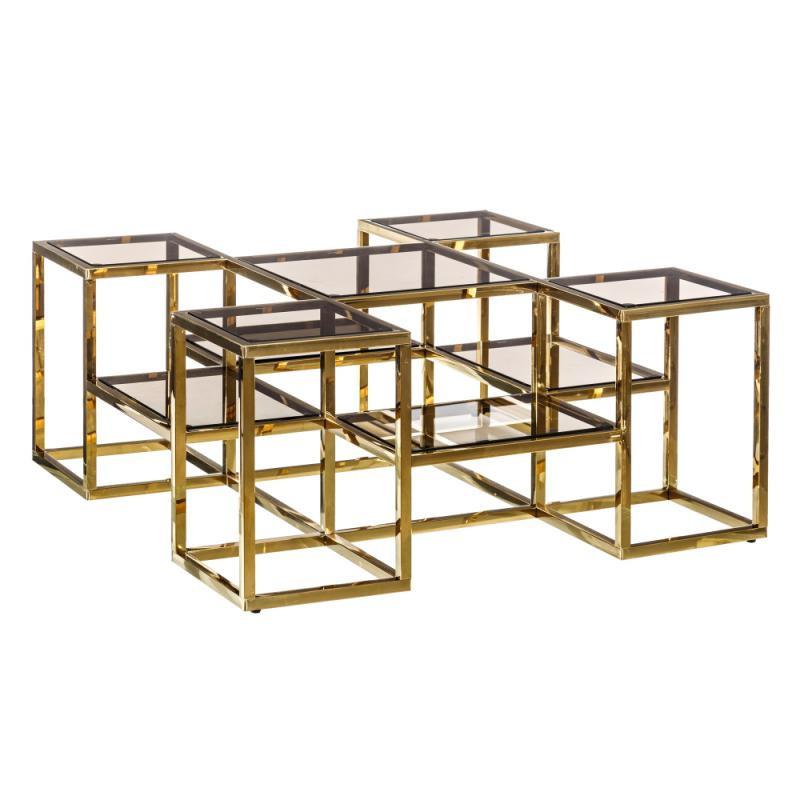 Table basse carrée Verre/Métal - TEBULO