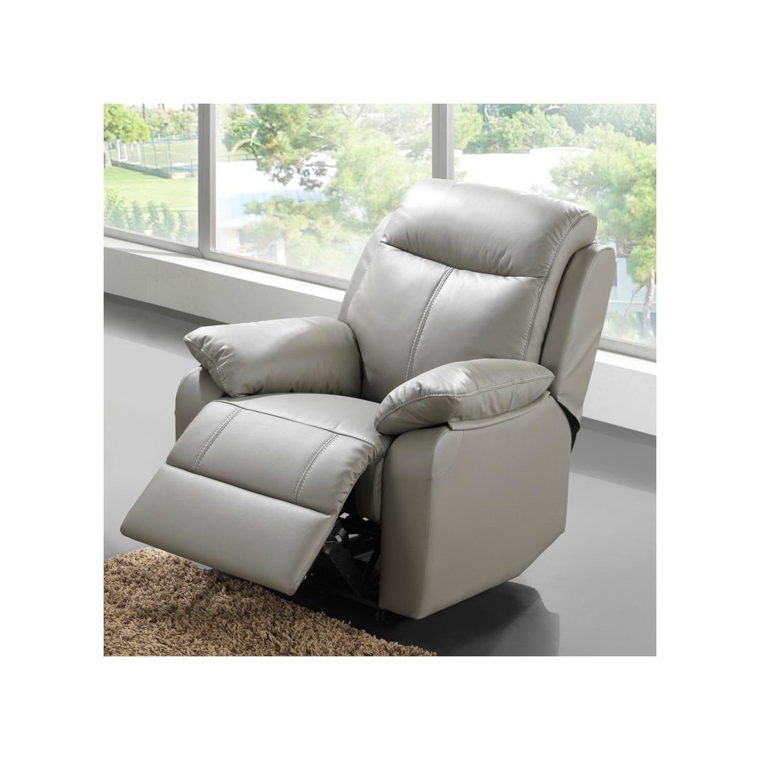 fauteuil relax lectrique cuir vyctoire univers des assises tousmesmeubles. Black Bedroom Furniture Sets. Home Design Ideas