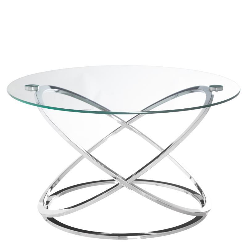 Table basse ronde Verre/Métal - GOTE