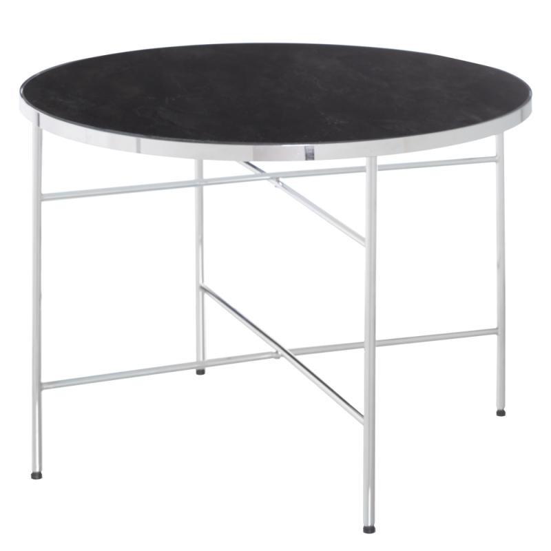 Table basse ronde noir Métal/Verre Taille S - MARMA