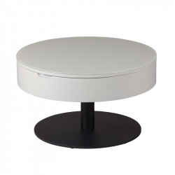 Table basse ronde relevable Gris clair/Anthracite mat - AONANG