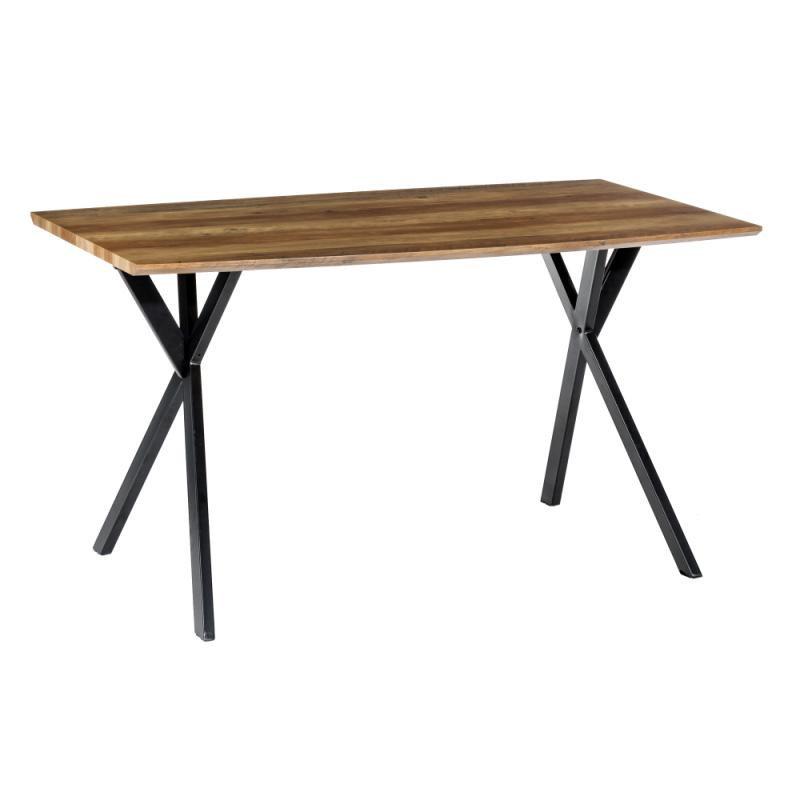 Table de repas rectangulaire Bois/Métal - GIDAN n°1