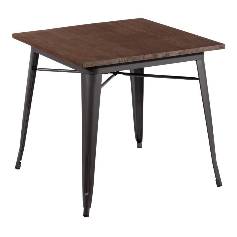 Table de repas carrée Bois/Métal - EASHA