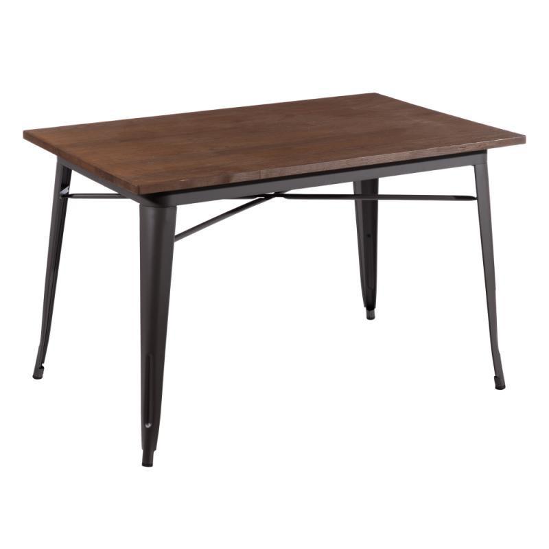 Table de repas rectangulaire Bois/Métal - EASHA
