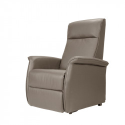 Fauteuil Relax Releveur Cuir taupe - JULIEN