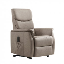 Fauteuil Relax Releveur Tissu taupe - ERIC
