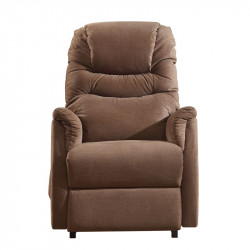 Fauteuil Relax Releveur Velours taupe - NICOLAS