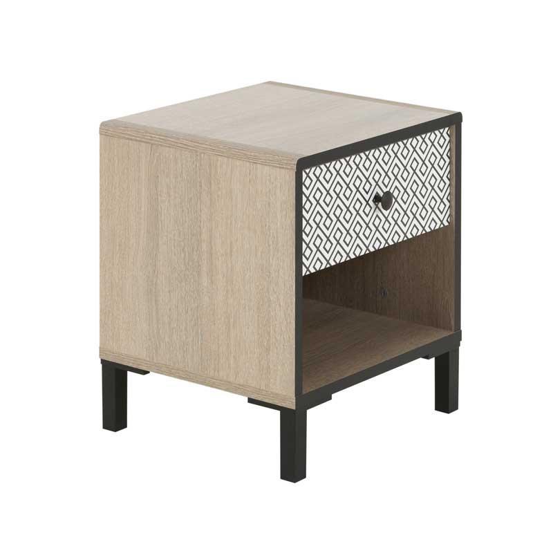Table de chevet 1 tiroir Chêne noisette - HAZELNUT