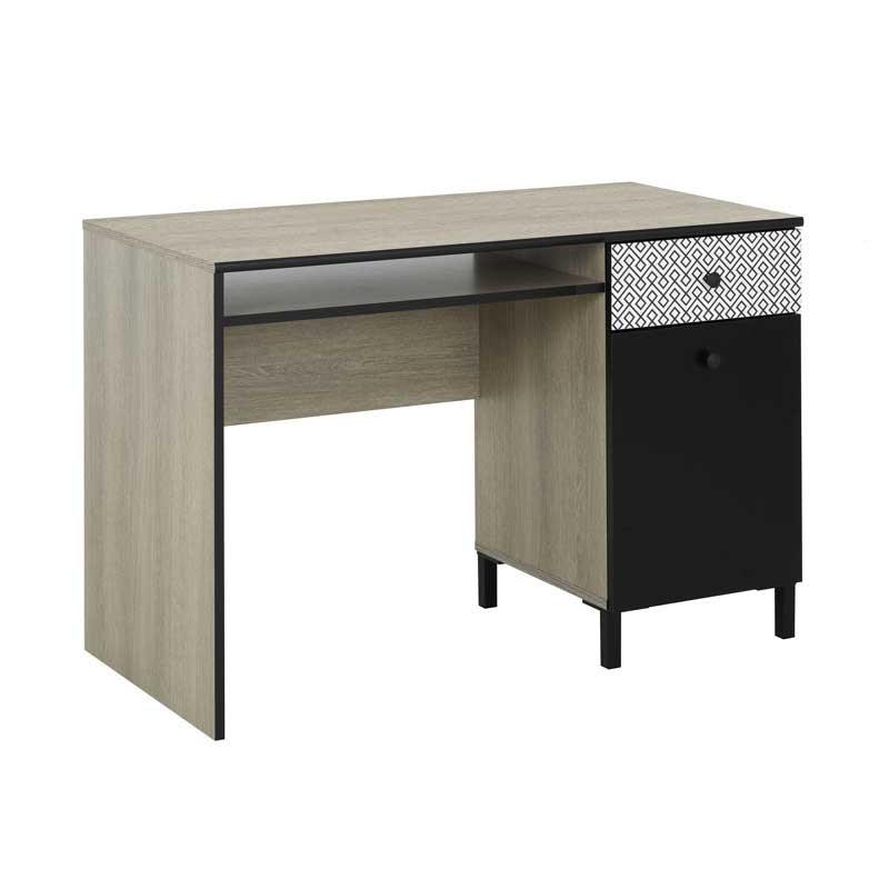 Bureau 1 tiroir 1 porte Chêne noisette - HAZELNUT