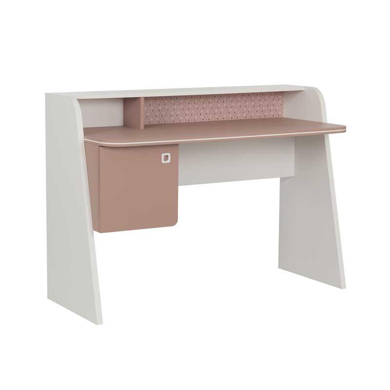 Bureau 1 porte Rose/Blanc - JADE