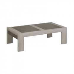 Table basse rectangulaire extensible Chêne cérusé - CHARLINETE