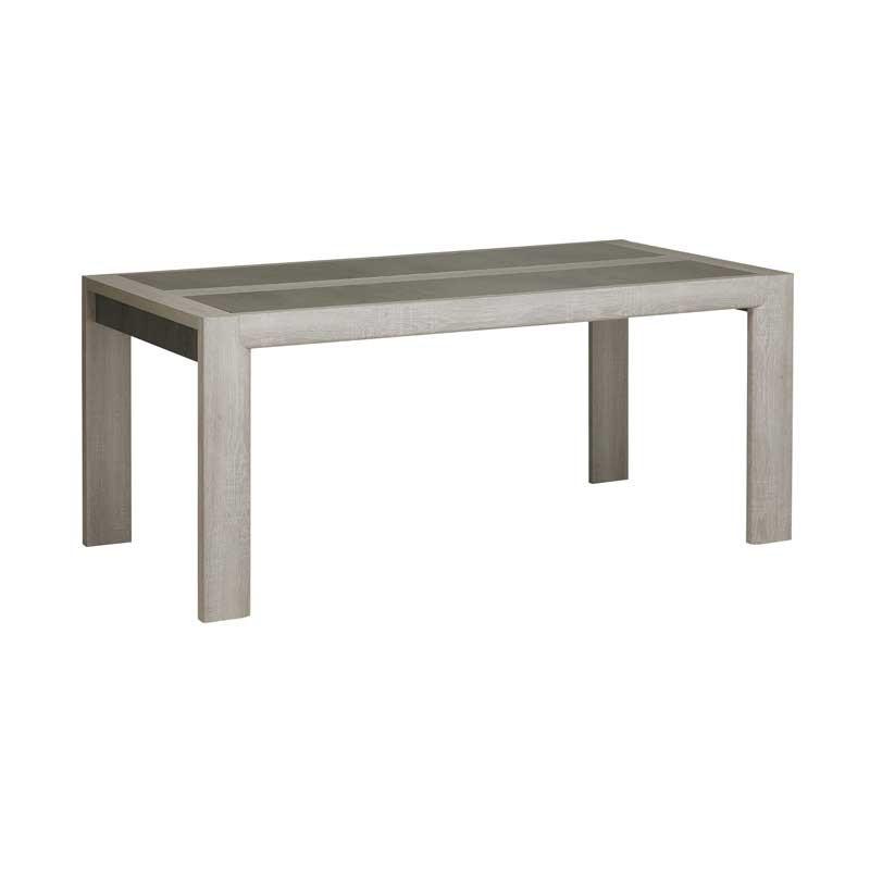 Table de repas rectangulaire Chêne cérusé - CHARLINETE