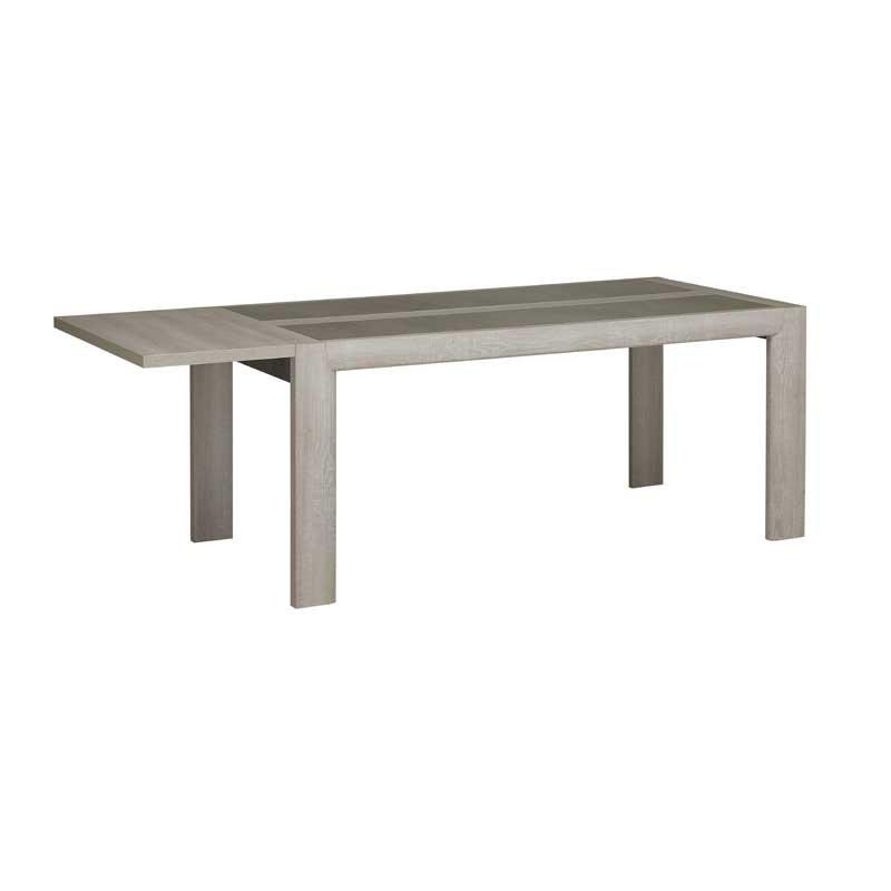 Table de repas à allonge Chêne cérusé - CHARLINETE