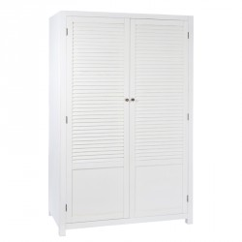 Armoire 2 portes Blanc - BOUDEBOIS
