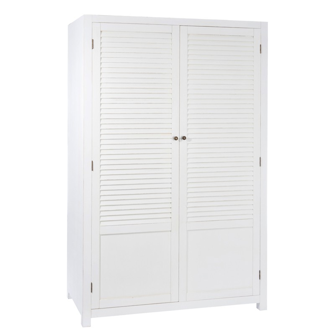 Chambre > Armoires > Armoire 2 portes Blanc  BOUDEBOIS