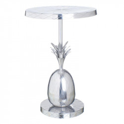 Table d'appoint Laiton/Argent - ANANAS