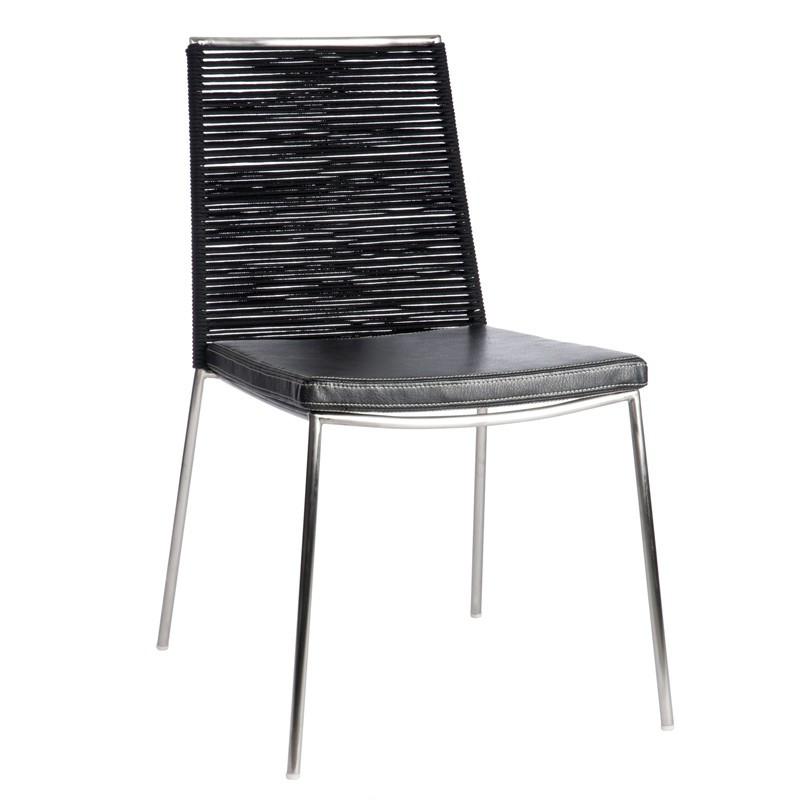 Chaise Inox/Cuir
