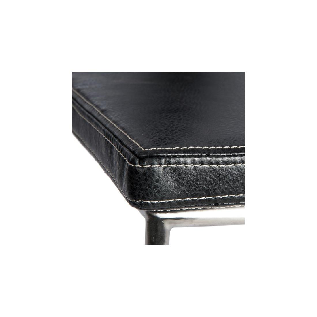 Chaise cuir noir lucifer n 2 univers de la salle - Chaise salle a manger cuir noir ...