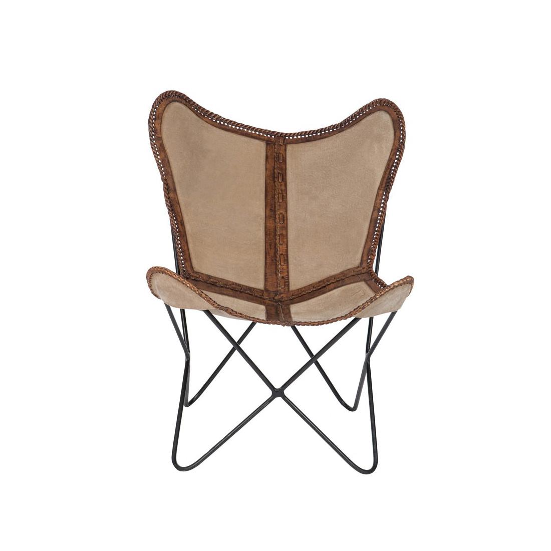 chaise lounge cuir beige marron jolly univers du salon. Black Bedroom Furniture Sets. Home Design Ideas