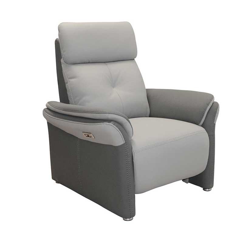 Fauteuil Relax Electrique Tissu gris - AUSTRALIO