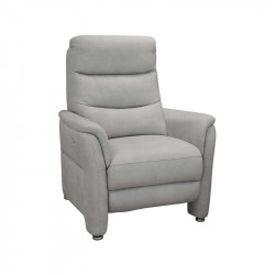 Fauteuil Relax Electrique Tissu gris perle - RUSSIA
