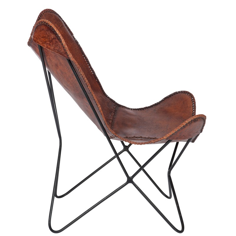Chaise lounge cuir marron jolly univers du salon - Chaises cuir marron ...