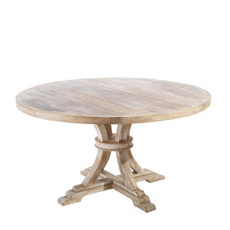 Table de repas ronde Bois blanchi - MEKNES