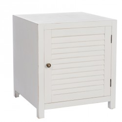 table de chevet 1 porte blanc boudebois