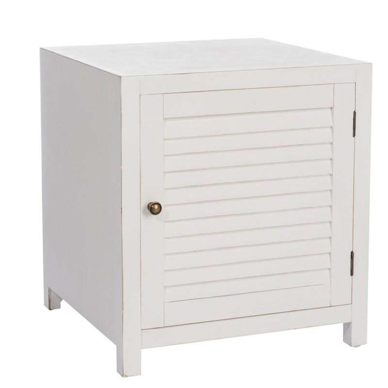 table de chevet 1 porte bois naturel boudebois l 50 x l 50 x h 55 promodispo. Black Bedroom Furniture Sets. Home Design Ideas